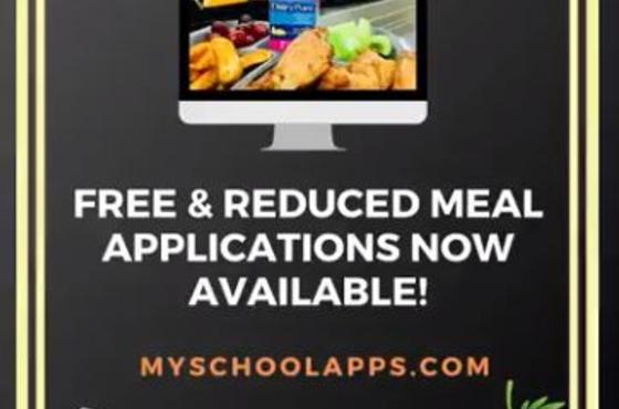 Free and Reduced Lunch Applications now Available!