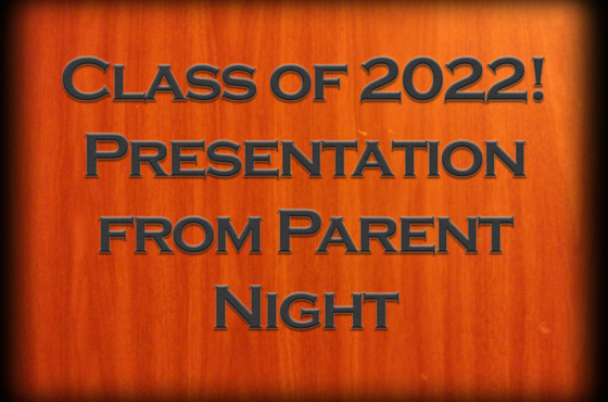Information From Parent Night